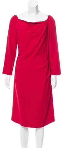 Alberta Ferretti Long Sleeve Knee-Length Dress w/ Tags
