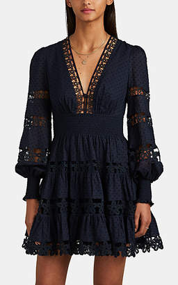 Zimmermann Women's Primrose Daisy Fil Coupé Dress - Navy