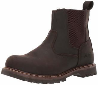 "AdTec 6"" Australian Leather Work Boot & Construction Shoe Oil Slip & Acid Resistant Outsole Orthotic PU Insole with Side Zipper Good Year Welt"