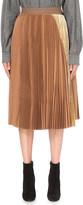 Sacai Pleated wool skirt