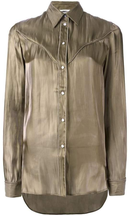 MM6 MAISON MARGIELA cutaway collar shirt