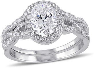 Nobrand No Brand 2.87 CT. T.W. Cubic Zirconia Bridal Set in Sterling Silver ()