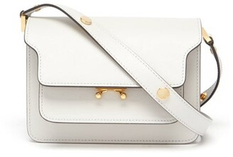 Marni Trunk Mini Leather Cross-body Bag - Light Grey