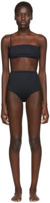 Rudi Gernreich Black One Strap Bandeau Bikini