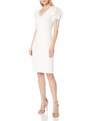 Badgley Mischka Women's Dress V Neck Short Sleeve