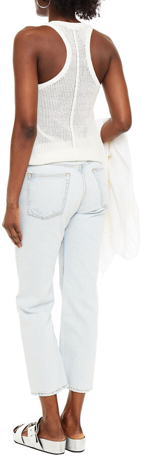 Thumbnail for your product : Rag & Bone Maya Distressed High-rise Straight-leg Jeans