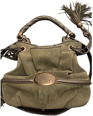 Lancel Brigitte Bardot Khaki Suede Handbags
