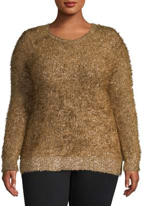 Rachel Roy Plus Dehlia Metallic Sweater
