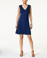 Style&Co. Style & Co Style & Co Petite Crisscross-Back Fit & Flare Dress, Created for Macy's