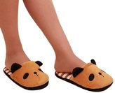 Susenstone®1336 Susenstone® Women Cute Bear Winter Warm Plush Antiskid Indoor Home Slippers