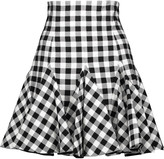 Dolce & Gabbana Ruffled gingham cotton mini skirt