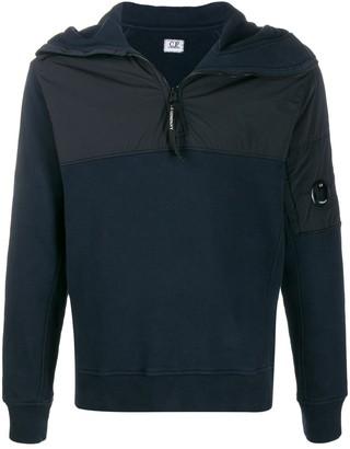 C.P. Company half-zip fitted hoodie