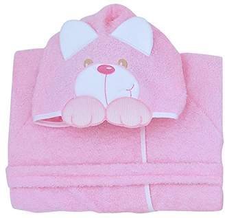Andy & Helen 932L Dressing Gown Sleeves Embroidered Pink