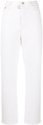 R 13 High Rise Cropped Jeans