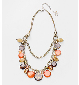Erica Lyons® Orange Fire Starter Short Necklace