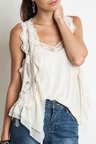 Umgee USA Sleeveless Lace Vest