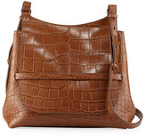 The Row Sideby Alligator Satchel Bag, Brown