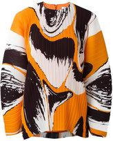 Solace - 'Una' printed plissé top - women - Polyester - 10