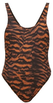 The Upside Claudina Scoop-back Tiger-print Swimsuit - Womens - Animal