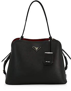 Prada Women's Medium Matinee Leather Top Handle Bag
