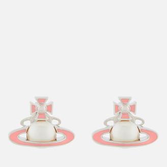 Vivienne Westwood Women's Iris Bas Relief Earrings - Rhodium Pearl Pink