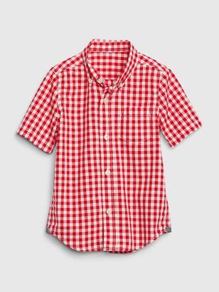 Gap Toddler Poplin Plaid Button-Down Shirt