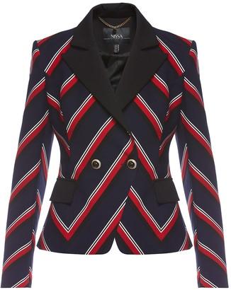 Nissa Lapel Stripes Suit Jacket