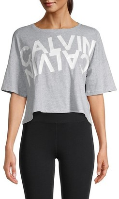 Calvin Klein Graphic Logo Cotton-Blend Tee