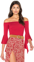 Clayton Clarity Top in Red. - size L (also in S,XS)