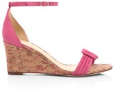 Alexandre Birman Vicky Knotted Leather Wedge Sandals