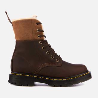 Dr. Martens Women's 1460 Kolbert Waterproof Leather 8-Eye Boots - Dark Brown - UK 4 - Brown