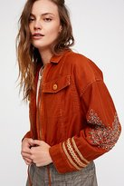 Free People Extreme Cropped Military Jacket