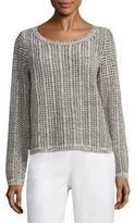 Eileen Fisher Cotton & Linen Blend Knit Top
