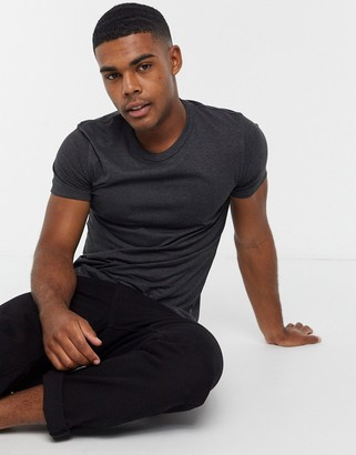 French Connection organic cotton boxy fit t-shirt in dark gray