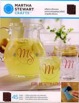 Martha Stewart Elegant Alphabet Adhesive Silkscreen Stencils 33247 Letters