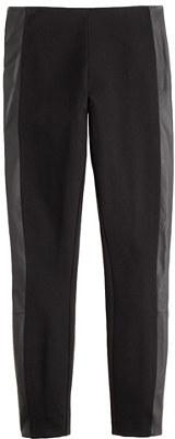 J.Crew Pixie pant in leather tuxedo stripe