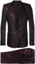 Dolce & Gabbana jacquard three piece suit