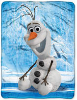 "Disney Frozen Olaf ""Chills and Thrills"" 46"" x 60"" Plush Micro-Raschel Throw Bedding"