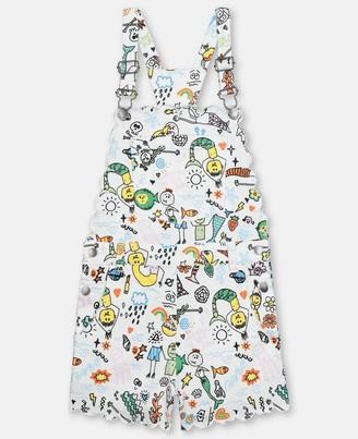Stella McCartney mermaids doodle denim dungarees