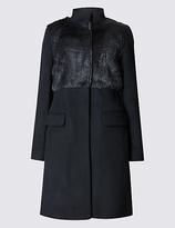Per Una Wool Blend Twin Pocket Coat
