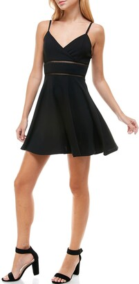 Rowa Ladder Trim Skater Dress