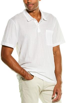 James Perse Vintage Chambray Polo Shirt