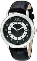 88 Rue du Rhone Men's 87WA130019 Analog Display Swiss Quartz Black Watch