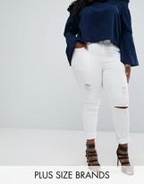 Boohoo Plus Distressed Skinny Jeans