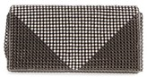 Whiting & Davis Crystal Triangle Clutch - Metallic