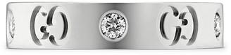 Gucci 18kt white gold Icon thin diamond band