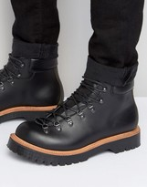 Asos Hiker Boot In Black Leather Made In England