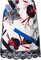 Paul & Joe floral lace trim skirt - women - Silk/Cotton/Viscose/Polyamide - 38