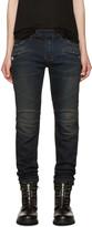 Balmain Indigo Biker Jeans