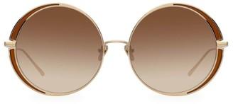Linda Farrow 87MM Circle Sunglasses